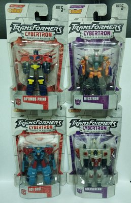 "全新絕版- Hasbro Transformers Cybertron: Robots in Disguise Series 1 - 一套4隻 3""Figure"