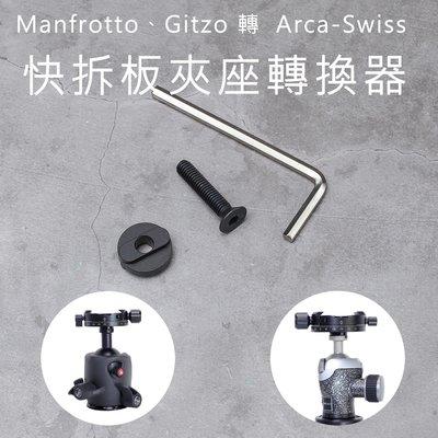 三重[小創百貨] Manfrotto Gitzo 轉 Arca-Swiss 快拆板夾座轉換器 台北市