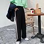 (現貨)韓國春夏垂墜高腰顯瘦休閒寬褲