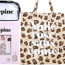 epine épine tote bag & pouch book 豹紋手提袋和透明袋 訂
