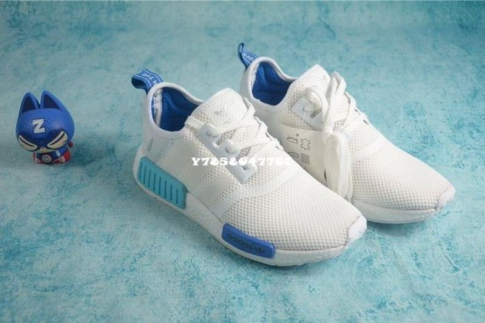 Adidas  NMD boost 圣保羅 白藍 S75235 男女鞋
