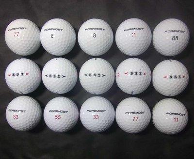 *威全高爾夫**~特選8~9成新(ForeMost SS2+SS3)綜合球(18顆)