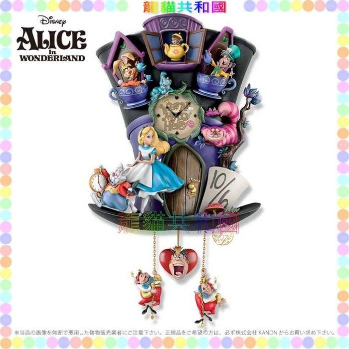 ※龍貓共和國※日本迪士尼DISNEY《Alice愛麗絲夢遊仙境 艾莉絲 時間兔 笑笑貓 時鐘 掛鐘 擺鐘 裝飾品 擺飾》