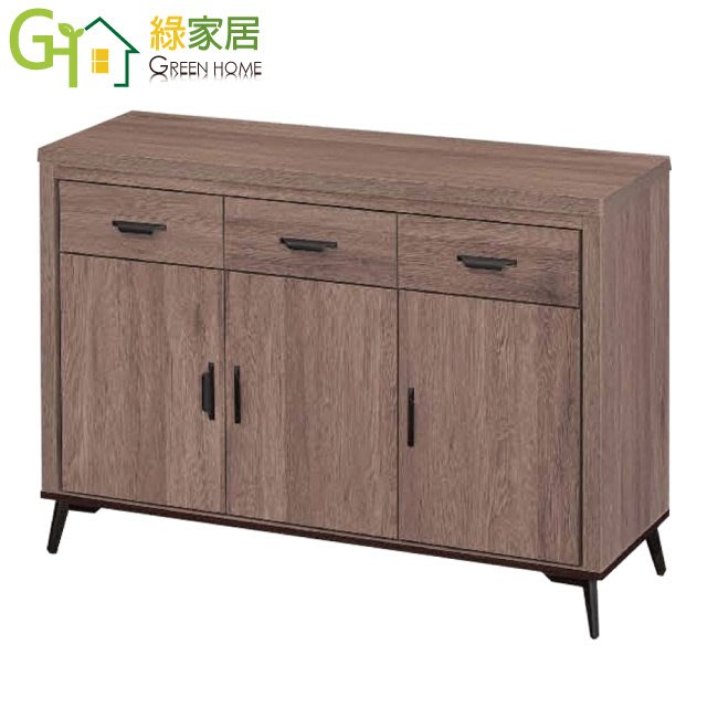 【綠家居】莫安多 現代4尺多功能餐櫃/收納櫃