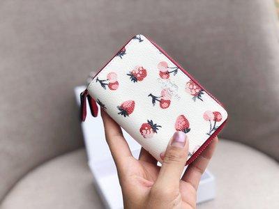 年底清倉 COACH 23677 新款水果圖案雙拉鏈小皮夾 零錢包 美國100% 正品代購 附購買證明