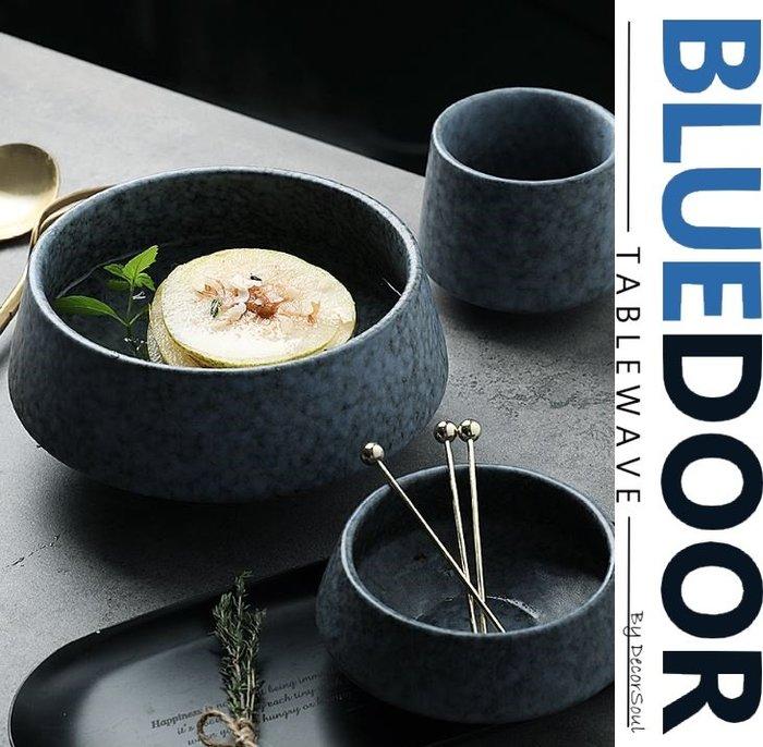BlueD_ 日式 青石碧玉缽 湯吞杯 小菜碗 小料碗 麵碗 小菜碟 茶碗蒸 防滑厚底 粗曠陶瓷 廚房餐廳 日本 可微波