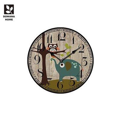 【多瓦娜】貓頭鷹與象圓掛鐘 CK12
