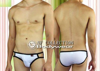 《NANNY_FENG》 男性白領必備精選內著 透氣 貼身 微透明絲滑雙細帶三角版 3521白色系