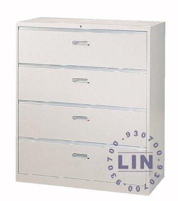 【品特優家具倉儲】◎P212-22公文櫃抽屜四層式公文櫃資料櫃 UD-4A