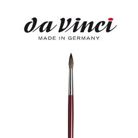 【時代中西畫材】davinci 達芬奇1640 #18號 俄羅斯黑貂毛圓鋒油畫筆油畫&壓克力專用