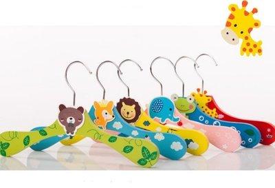 韓國連線 可愛動物木製彩色寶寶衣架,兒童衣架,寵物衣架,狗衣架,每根29元(不挑款) 新竹市
