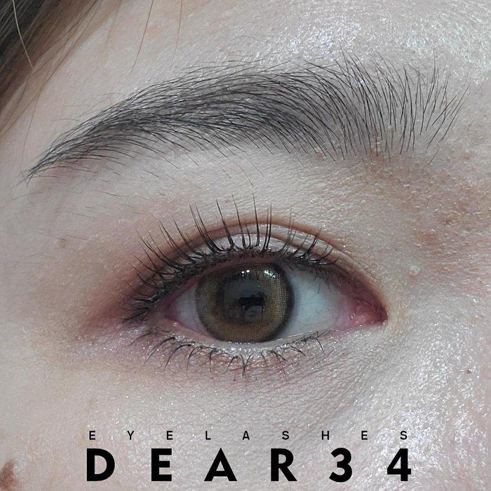 《Dear34》極細磨尖06透明梗眼中長V形根根分明一盒十對價