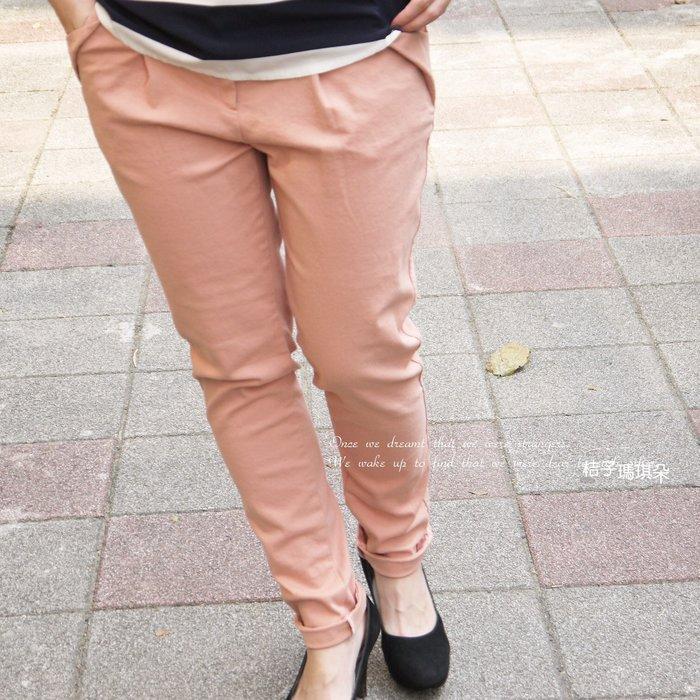 正韓 彈性挺棉 立體口袋 超修身BF褲(粉紅、卡其)~惠衣。桔子瑪琪朵