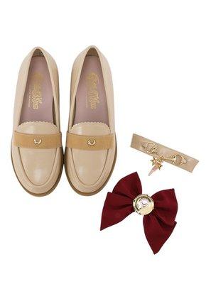 預訂台灣Grace Gift-美少女戰士變身器緞帶樂福鞋(杏)