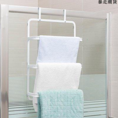精選 白色門后毛巾掛架 浴室收納架毛巾架掛鉤門背式掛籃置物架
