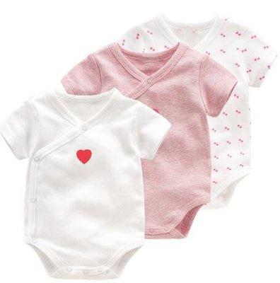新生嬰兒兒衣服夏裝包屁衣女寶寶公主夏季連體衣0歲短袖哈衣薄款—莎芭