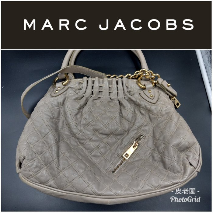【皮老闆】二手真品 Marc Jacobs 祖母包 手提包 斜背包 兩用 2Way (L)