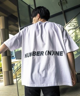 台中實體店 Mars Lab NUMBER (N)INE DENIM logo print TEE 短踢 短T