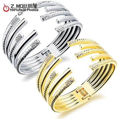 銅鍍金手鐲 精緻耀眼手環 派對飾品配件 韓版時尚手環 單件價【CKA508】Z.MO鈦鋼屋