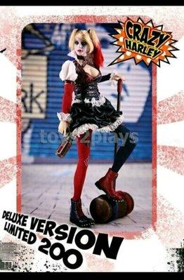 1:6 Crazy Harley Quinn 瘋狂 小丑女 Batman Joker 系列 角色 figure 限量 200盒