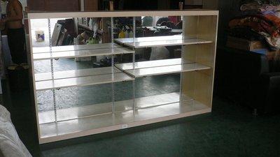 台中宏品中古傢俱拍賣 D63*玻璃展示櫃*服飾櫃 櫃檯 高低櫃 收納櫃 生財器具拍賣冷凍空調 冰箱 台中市
