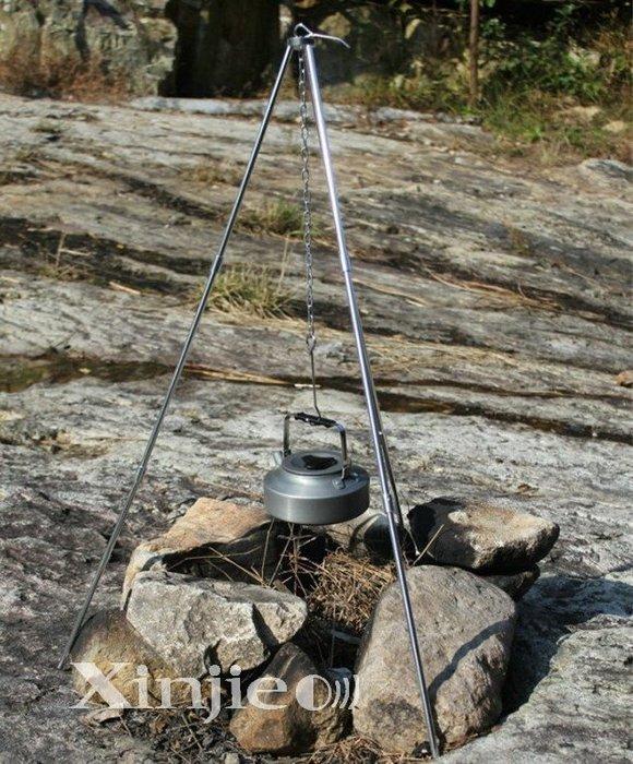 《宇捷》【L71】迷你三腳支架 營火三脚架 燒烤 露營 戶外野營