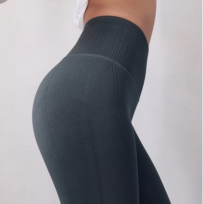 少女高腰彈力健身褲女蜜桃提臀運動外穿壓...