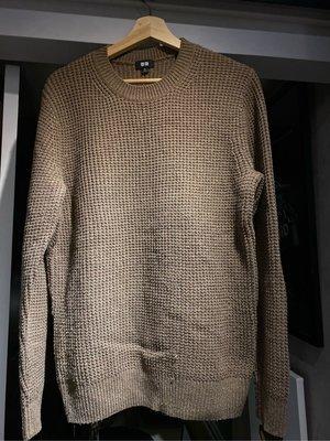 二手 Uniqlo 奶茶色 卡其 羊毛毛衣