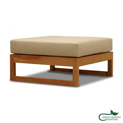 墨西哥 柚木沙發腳墊椅(含墊)【大綠地家具】100%印尼柚木實木/絕版出清/實木沙發/室內戶外兩用