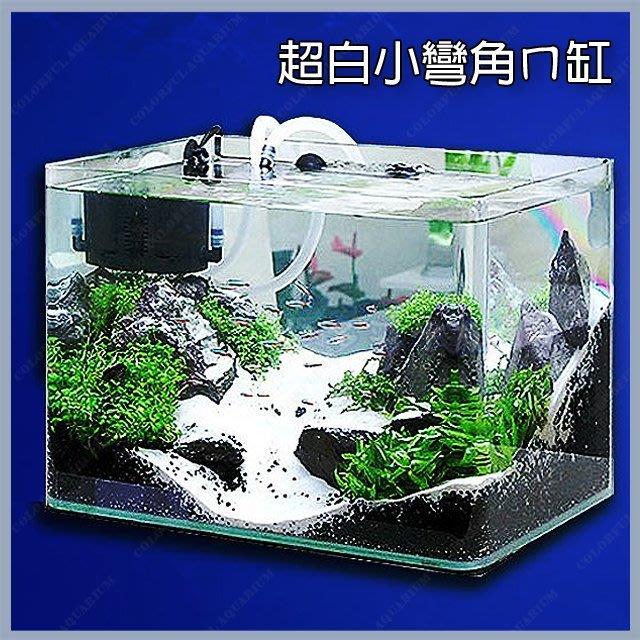 台北►►多彩水族◄◄台灣RISS日印《小彎角 超白玻璃 魚缸 / 45 × 27 × 30 cm》精緻、ㄇ缸 開放缸