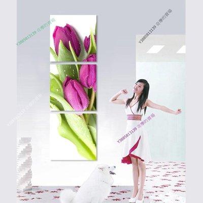 【60*60cm】【厚1.2cm】單束浪漫鬱金香-無框畫裝飾畫版畫客廳簡約家居餐廳【280101_377】(1套價格)