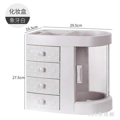 化妝品收納盒多層家用梳妝臺歐式置物架宿舍大容量桌面整理盒LB14995