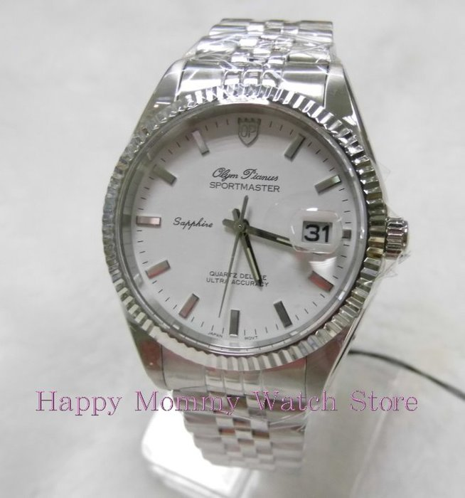 【 幸福媽咪 】OP 奧柏錶 蠔式超大錶徑防水石英錶男錶 89322GS