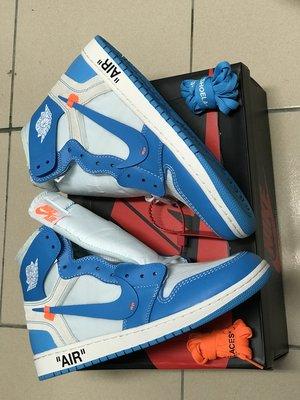 [售出]Nike x Offwhite Air Jordan 1 北卡籃( US10.5 )