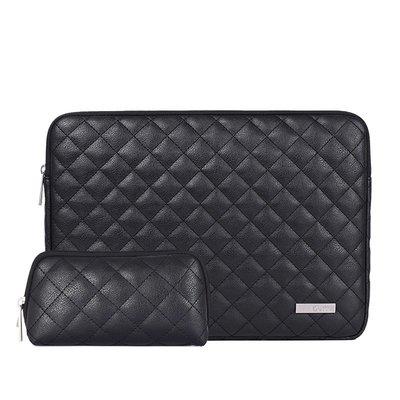手拿包皮革電腦包-純色菱格縫線時尚男女包包2色73vy30[獨家進口][米蘭精品]