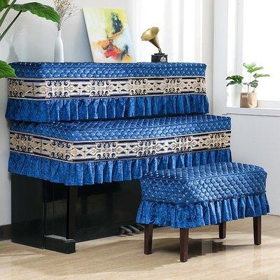 SUNNY雜貨-歐式鋼琴罩三件套半罩現代簡約蓋巾鋼琴套布藝全罩鋼琴防塵罩蓋布#防塵罩#家居用品