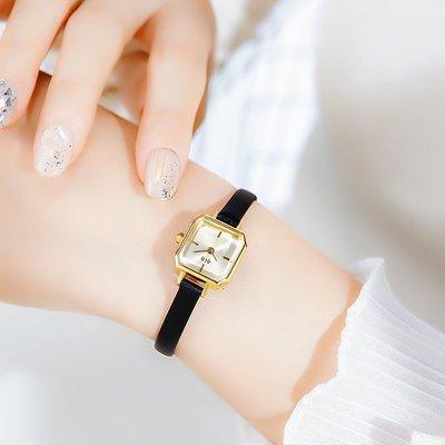 ZK 日系小眾石英錶女士 ins風手錶chic復古ete日本小方錶圣誕節禮物