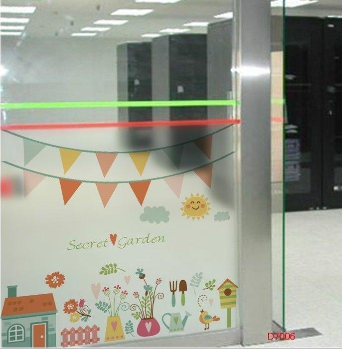 壁貼工場-玻璃貼 無痕貼 壁貼 牆貼 透明磨砂 卡通圖案 窗貼 K7006
