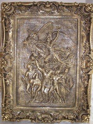 FRP浮雕畫--法國凱旋門上馬賽曲﹝志願軍出征曲﹞95x13x127CM