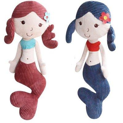 《Jami Honey》【JE0192】珍珠美人鱼小背心露肚臍公仔娃娃玩偶 抱枕 靠枕