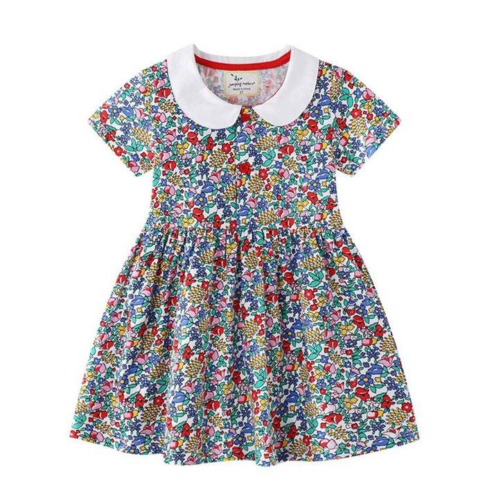 •*~ 辣媽咪衣飾小舖 ~*•❤童裝系列❤K930235韓版兒童夏款歐美風甜美可愛碎花公主裙洋裝