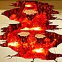[808 MAGIC] 魔術道具 3D貼紙- 岩漿款 拼好尺...
