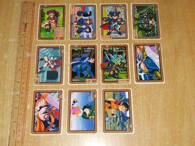 90% 新 (邊位有黃) Bandai 甲龍傳說 1990 93年版 白卡 咭 不齊套圖中23張(不散賣) 日版 last