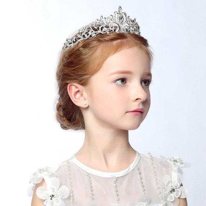 【Kathie Shop】兒童皇冠髮飾公主頭飾韓國女孩公主皇冠大皇冠髮箍新娘頭箍鑽飾