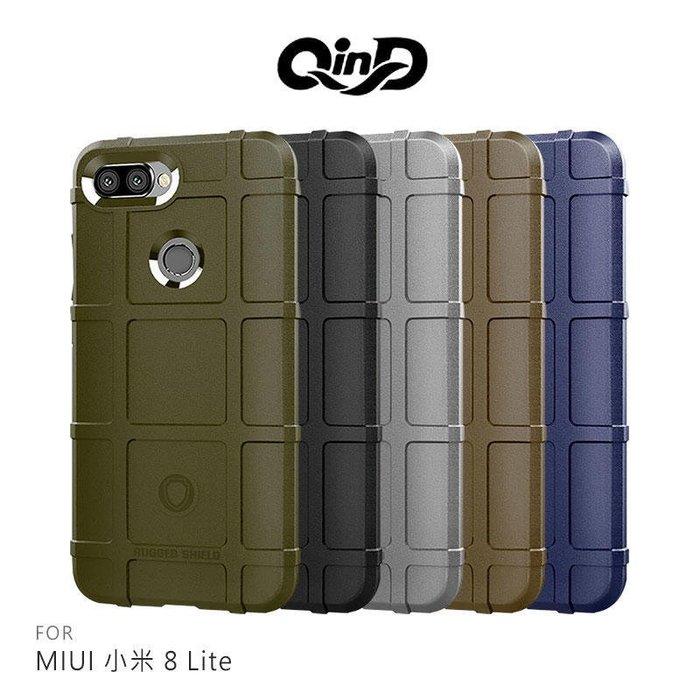 --庫米--QinD MIUI 小米8 Lite /A2/6X 戰術護盾保護套 防摔殼 TPU套