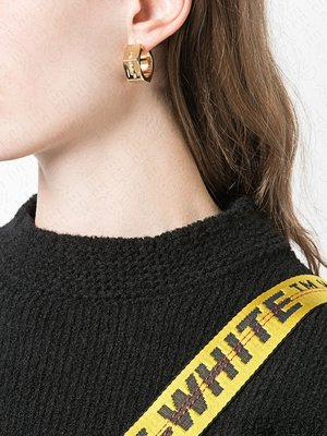 【WEEKEND】 OFF WHITE Hex Nut 一對 耳環 金色 19秋冬