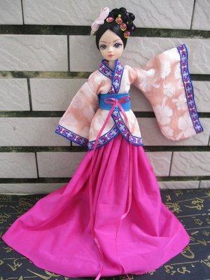 愛卡的玩具屋 可兒芭比 娃娃自制古裝娃衣 未央粉