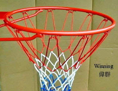 《偉群牌》標準實心籃框1個+棉線網2個◎台灣製◎附後抗壓鐵板、鏍絲 ※運費另計、可來店自取※-7