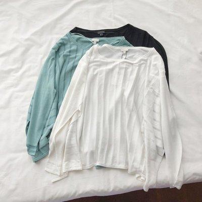 Jomi日韓 歐美單 慵懶顯瘦透視感條紋寬鬆蝙蝠袖針織衫*3色預購【JJ22-OG9936】