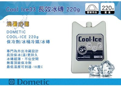 ||MyRack|| Dometic Cool Ice 長效冰磚 保冷劑 220g CI220 (WAECO) 冰桶冷媒